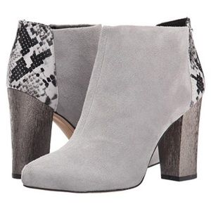 CIRCUS BY SAM EDELMAN BOND SNAKE PRINT SUEDE BOOTS